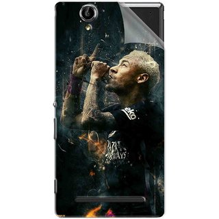 Snooky Printed The Magician  Neymar FootBall Pvc Vinyl Mobile Skin Sticker For Sony Xperia T2 Ultra