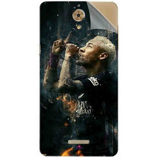 Snooky Printed The Magician  Neymar FootBall Pvc Vinyl Mobile Skin Sticker For Coolpad Mega 2.5D