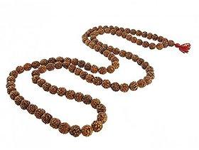 setnacreations 5 Face Rudraksha Mala, 5 Mukhi Mala, Jaap Mala , 5mm-6mm Natural Rudraksha Bead Mala