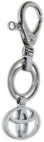 Imported Full Metal Toyota Cars Key Chain Keyring With Belt Hook Silver Color