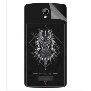 Snooky Printed black panther movie Pvc Vinyl Mobile Skin Sticker For LYF Wind 3