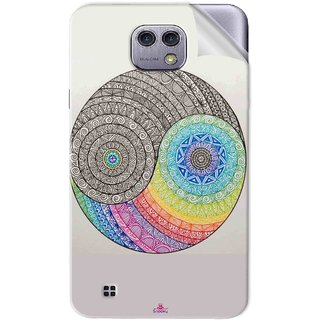 Snooky Printed Traditional Yin Yang Pvc Vinyl Mobile Skin Sticker For LG X cam