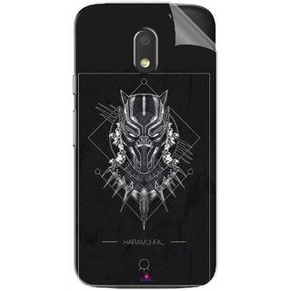 Snooky Printed black panther movie Pvc Vinyl Mobile Skin Sticker For Motorola Moto E3 Power
