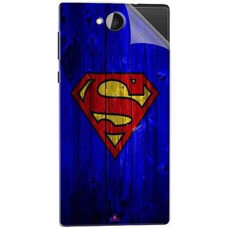 Snooky Printed Blue Superman Logo Pvc Vinyl Mobile Skin Sticker For Xolo Prime