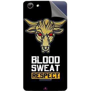 Snooky Printed Blood Sweat Respect Pvc Vinyl Mobile Skin Sticker For Micromax Canvas Selfie 3 Q348