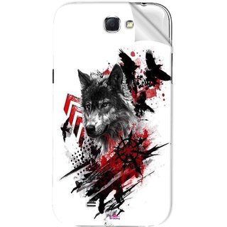 Snooky Printed wolf polka trash Pvc Vinyl Mobile Skin Sticker For Samsung Galaxy Note 2