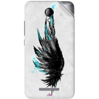 Snooky Printed wing tattoo Pvc Vinyl Mobile Skin Sticker For Karbonn Titanium Machfive