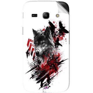 Snooky Printed wolf polka trash Pvc Vinyl Mobile Skin Sticker For Samsung Galaxy Star Advance