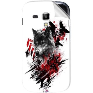 Snooky Printed wolf polka trash Pvc Vinyl Mobile Skin Sticker For Samsung Galaxy S Duos S7562