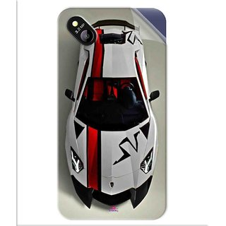 Snooky Printed sports cars and bikes Pvc Vinyl Mobile Skin Sticker For Micromax Bolt D303