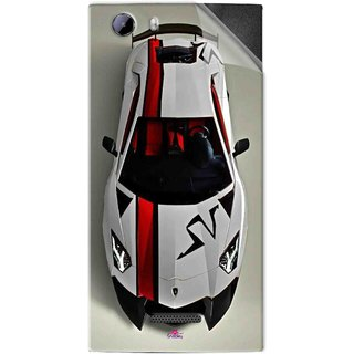Snooky Printed sports cars and bikes Pvc Vinyl Mobile Skin Sticker For Micromax Canvas Play 4G Q469