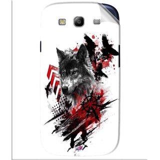 Snooky Printed wolf polka trash Pvc Vinyl Mobile Skin Sticker For Samsung Galaxy S3
