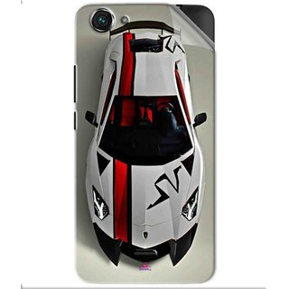 Snooky Printed sports cars and bikes Pvc Vinyl Mobile Skin Sticker For Micromax Bolt Q338