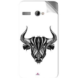 Snooky Printed Bull Pvc Vinyl Mobile Skin Sticker For Intex Aqua 3G Pro