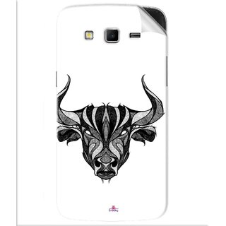 Snooky Printed Bull Pvc Vinyl Mobile Skin Sticker For Samsung Galaxy Grand 2