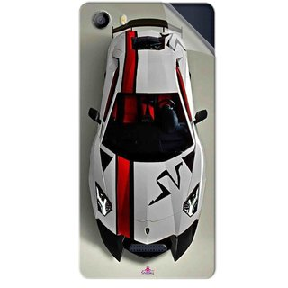 Snooky Printed sports cars and bikes Pvc Vinyl Mobile Skin Sticker For Micromax Canvas 5 E481