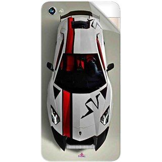 Snooky Printed sports cars and bikes Pvc Vinyl Mobile Skin Sticker For Micromax Canvas Hue 2