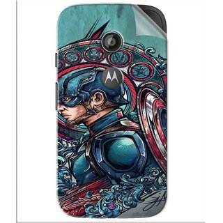 Snooky Printed Captain Ameria Avenger Pvc Vinyl Mobile Skin Sticker For Motorola Moto E2