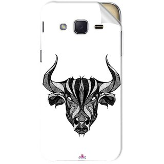 Snooky Printed Bull Pvc Vinyl Mobile Skin Sticker For Samsung Galaxy j2