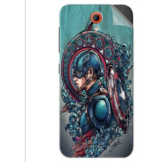 Snooky Printed Captain Ameria Avenger Pvc Vinyl Mobile Skin Sticker For Htc Desire 620