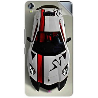 Snooky Printed sports cars and bikes Pvc Vinyl Mobile Skin Sticker For Micromax Canvas Juice 3+ Q394