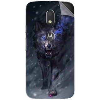 Snooky Printed Wolf Spirit Animal Pvc Vinyl Mobile Skin Sticker For Motorola Moto E3