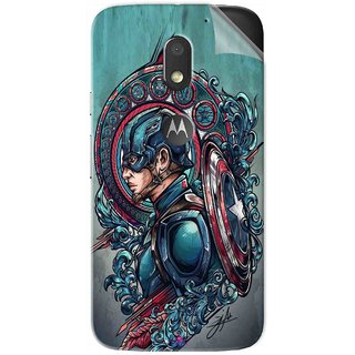 Snooky Printed Captain Ameria Avenger Pvc Vinyl Mobile Skin Sticker For Motorola Moto E3