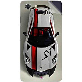 Snooky Printed sports cars and bikes Pvc Vinyl Mobile Skin Sticker For Micromax Canvas Unite 3