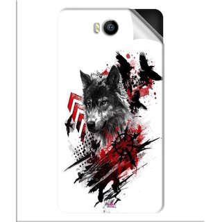 Snooky Printed wolf polka trash Pvc Vinyl Mobile Skin Sticker For Intex Aqua 4.5e