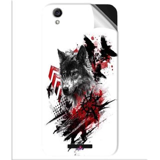 Snooky Printed wolf polka trash Pvc Vinyl Mobile Skin Sticker For Lava Iris Atom 3