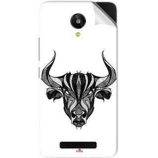 Snooky Printed Bull Pvc Vinyl Mobile Skin Sticker For Lava Iris X1 Selfie