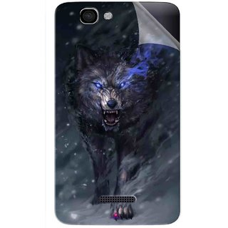 Snooky Printed Wolf Spirit Animal Pvc Vinyl Mobile Skin Sticker For Micromax Canvas 2 A120