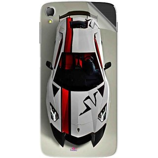 Snooky Printed sports cars and bikes Pvc Vinyl Mobile Skin Sticker For Panasonic Eluga Switch