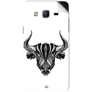 Snooky Printed Bull Pvc Vinyl Mobile Skin Sticker For Samsung Galaxy On7 Pro