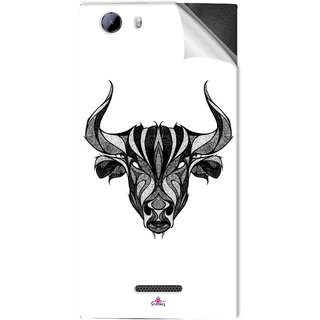 Snooky Printed Bull Pvc Vinyl Mobile Skin Sticker For Micromax Canvas Play 4G Q469
