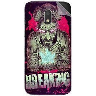 Snooky Printed Breaking Bad Pvc Vinyl Mobile Skin Sticker For Motorola Moto E3 Power