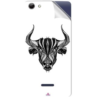 Snooky Printed Bull Pvc Vinyl Mobile Skin Sticker For Micromax Canvas Selfie 3 Q348