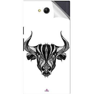 Snooky Printed Bull Pvc Vinyl Mobile Skin Sticker For LYF Wind 4