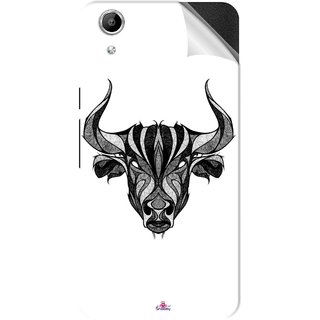Snooky Printed Bull Pvc Vinyl Mobile Skin Sticker For Micromax Canvas Selfie Lens Q345