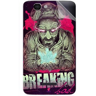 Snooky Printed Breaking Bad Pvc Vinyl Mobile Skin Sticker For Micromax Canvas 2 A120