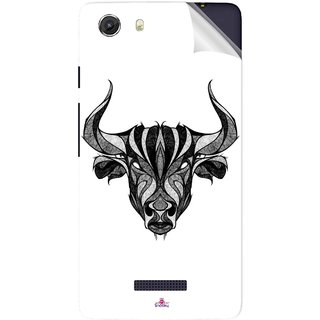 Snooky Printed Bull Pvc Vinyl Mobile Skin Sticker For Micromax Canvas Unite 3