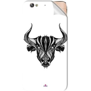 Snooky Printed Bull Pvc Vinyl Mobile Skin Sticker For Gionee Elife S6