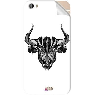 Snooky Printed Bull Pvc Vinyl Mobile Skin Sticker For Intex Aqua Turbo 4G