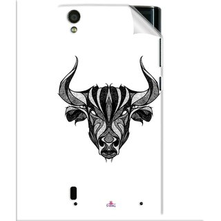 Snooky Printed Bull Pvc Vinyl Mobile Skin Sticker For Vivo Y15