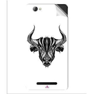 Snooky Printed Bull Pvc Vinyl Mobile Skin Sticker For Lava A71