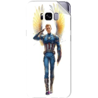 Snooky Printed Captain America wing Pvc Vinyl Mobile Skin Sticker For Samsung Galaxy S8 Plus