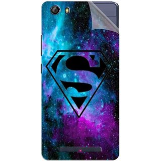 Snooky Printed Superman Fondos Pvc Vinyl Mobile Skin Sticker For Gionee Marathon M5
