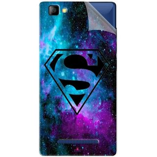 Snooky Printed Superman Fondos Pvc Vinyl Mobile Skin Sticker For LYF Flame 8