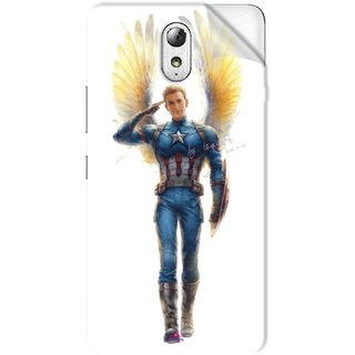 Snooky Printed Captain America wing Pvc Vinyl Mobile Skin Sticker For Lenovo Vibe P1M
