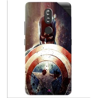 Snooky Printed Captain American Shield Pvc Vinyl Mobile Skin Sticker For Lenovo K8 Plus